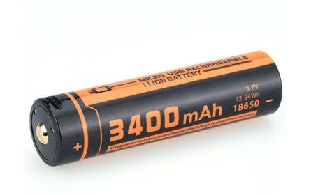 ΜΠΑΤΑΡΙΑ ΛΙΘΙΟΥ ΜΕ USB 18650-400mAH FITORCH